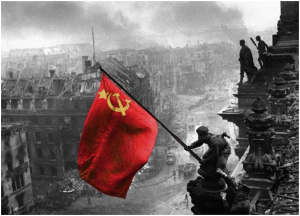 red flag Reichstag