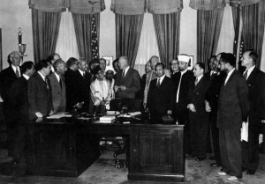 President-Eisenhower-meets-with-Islamic-scholars-including-Said-Ramadan-23-September-1953-300x209